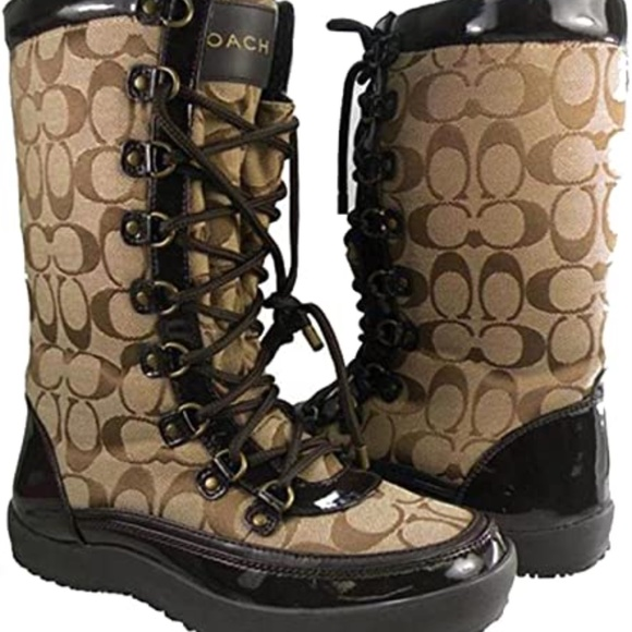 Coach Winter Boots Peggey Brown